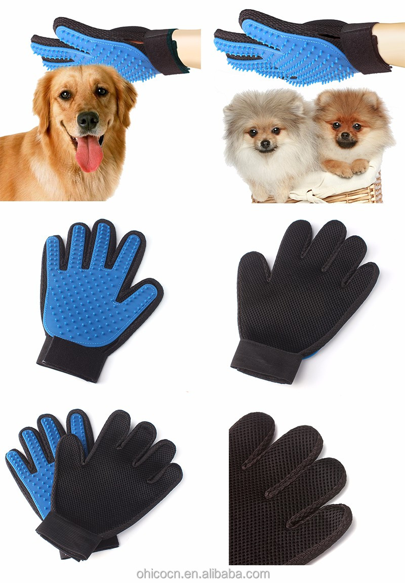 Multi-color Solf Silicone Message Pet Bath Glove /Durable Pet Grooming Glove Brush for Dog and Cat