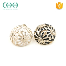 Classic round exquisite flower shaped jewelry snaps, metal button