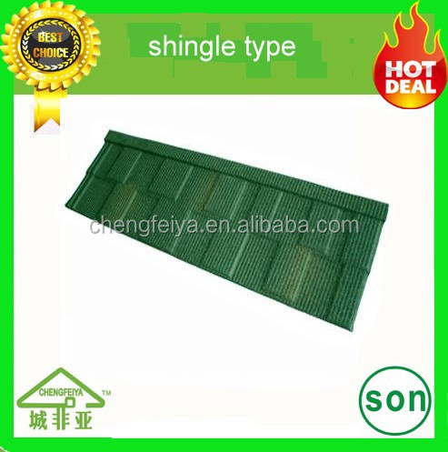 durable colorful stone coated metal roofing tile price