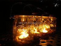 Mountain Woman Products Four Glass Clear Mason Jar Lanterns Light Candle Holder Outdoor Lighting