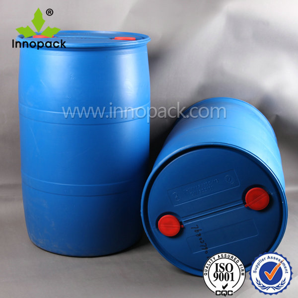 plastic barrel drum 200 liter with closed top for liquid and chemical
