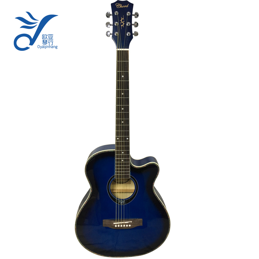 40 inch musical jazz wooden guitar acoustic