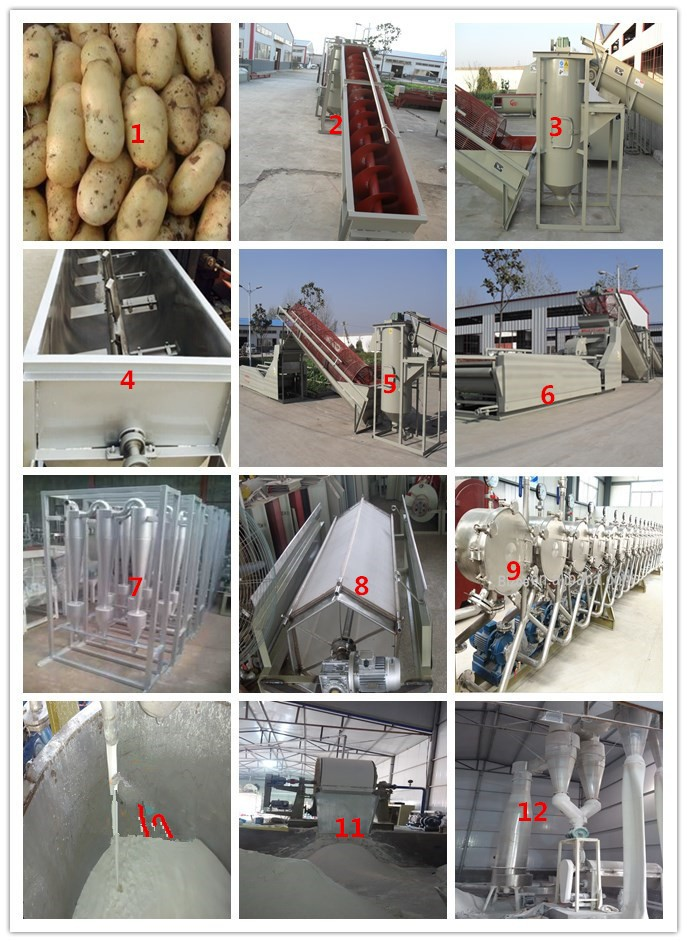 200kg/h to 5t/h starch extracting machine yam processing