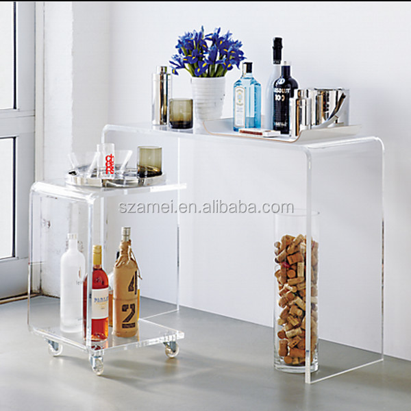 2017 modern cheap ike acrylic bedside table for bedroom