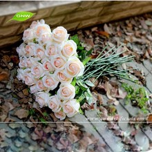 FLS04-6 artificiale flowers long stem rose for wedding decoration flower stand as wedding background decoration