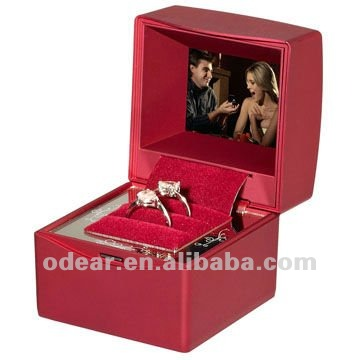 jewelry box packaging with video photo music