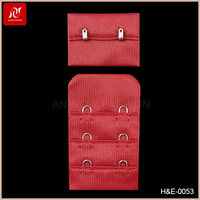 Best quality red color comfortable nylon bra clasp back strap extender for bra accessories
