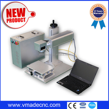 10W 20W 30W fiber mini Laser marking / engraving machine for laptop