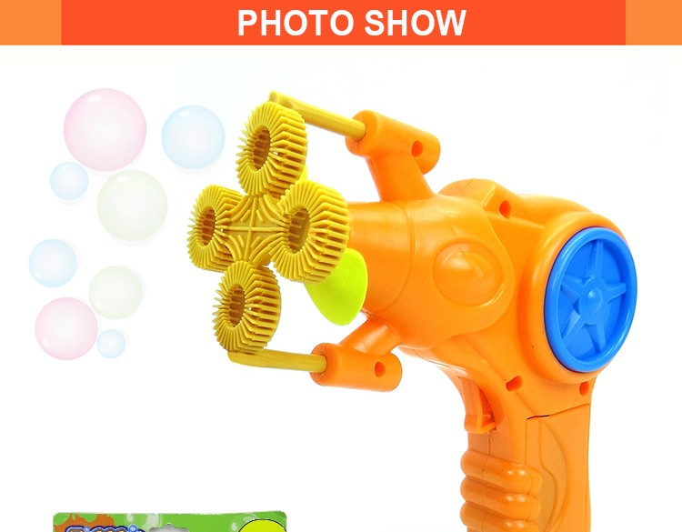 Hot selling battery operated bubble gun toys for kids