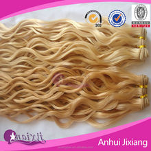 Bleach Blonde pure real remy human hair weaving for sale