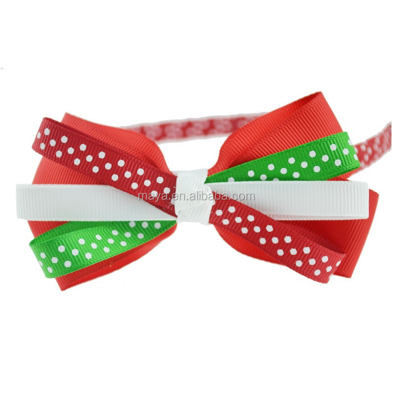 2016 Hot-sale South Korean style Color spots bowknot fashion hair band