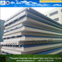 Insulated metal wall panels/prefabricated exterior wall panel/EPS sandwich panel price