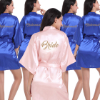 Cheap 12 stock colors kimono collar sexy wedding party women bride/bridesmaid robes