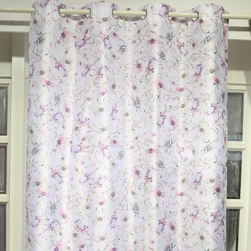 Popular best price small flower curtain fabric drapery