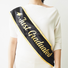 Popular Promotional 9.5*156cm Single/Double Layer Satin Graduation Sash