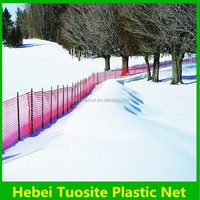 High-density polyethylene orange red warning fence snow fence( factory)