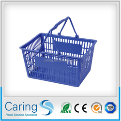 supermarket plastic shopping bascet/small plastic shopping basket