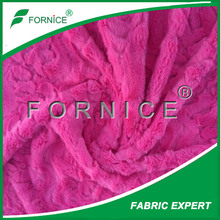 2014 hot sell polyester brushed tricot pv plush fabric