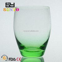Blue solid Colored Bottom Drinking Glass Tumbler