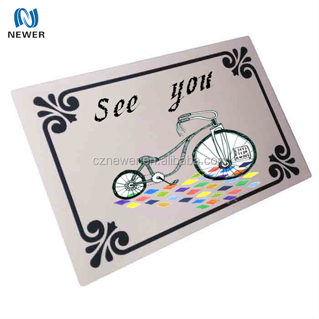 Stylish personalized top grade insulated neoprene door mat