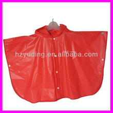 100% PVC Cute Cartoon Raincoats rain poncho for kid with hood