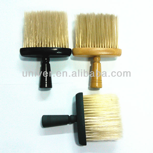 Hot Sell Salon Cosmetics Wooden & Rubber Paint Handle Nylon Neck Brushes Dusters C5123.C5128