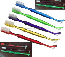 Double Ended Orthodontic Toothbrush with interdental brush