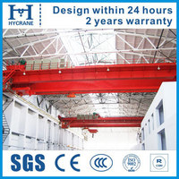Electric overhead crane, double girder hanger bridge crane
