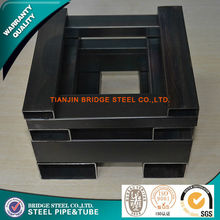 chinese supplier manufacturing black powder coating 25mmx25mm square tube steel oiling or painting
