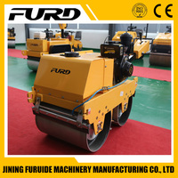 Honda engine two double walk behind road roller with top quality (FYLJ-S600C)