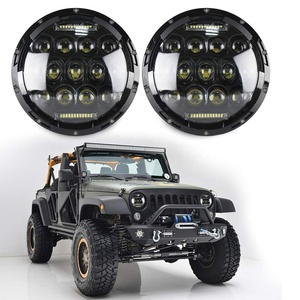 "OVOVS 7"" Round 75w Led Headlight DOT Approved with High/ Low Beam DRL for Jeep Wrangler"