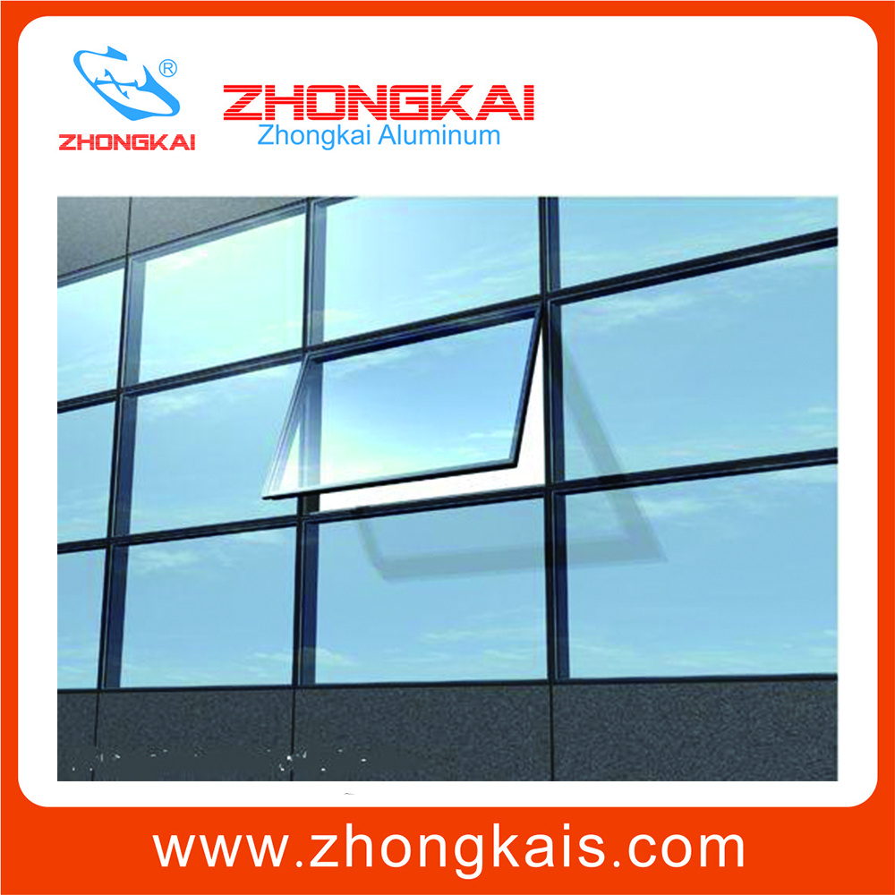 Construction building material aluminum frame glass curtain wall