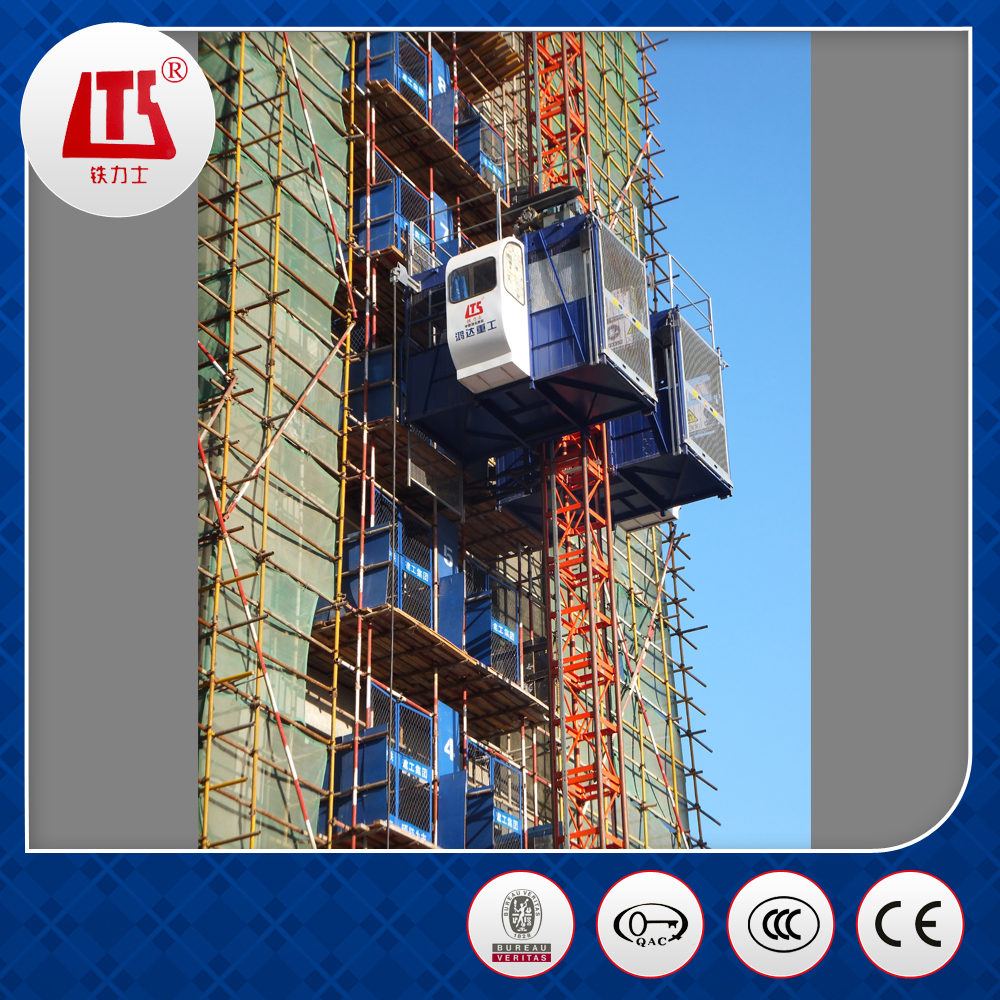 China Brand New 1T Construction Elevator for Sale ISO9001&BV Approved
