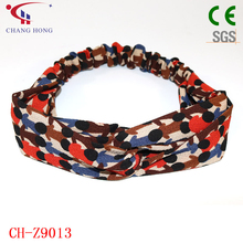 Custom colorful printed polyester headband for women