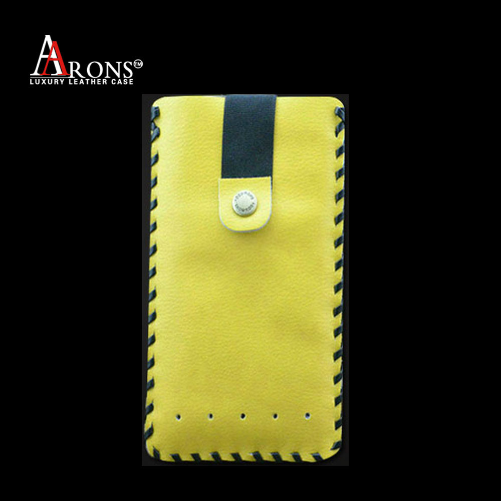 Pouch genuine leather case with pull belt for samsung galaxy note 3 case