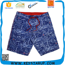 Hot Sale Mens Swimwear Peached Surf Board Short Smultielement Print