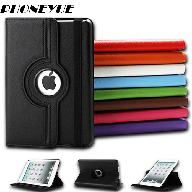Funda Sleep/Wake 360 Degree Rotating Smart Flip Stand PU Leather Cover Case For iPad Mini 2/3/4 For iPad Air/Pro