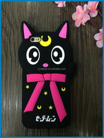 High quality simple design Nana cat phone case for iphone silicone phone case,case for cell phone,cartoon case for smart phone