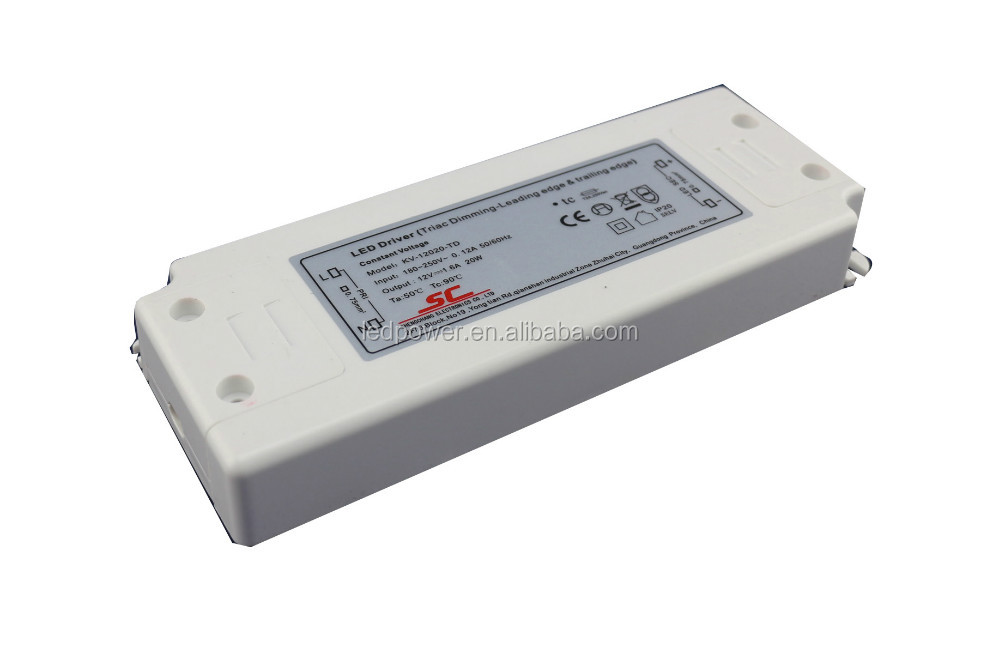 ETL cETL listed 12V 24V driver 10W triac dimmable driver fliker free for LED strips