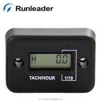 Waterproof LCD gasonline tachometer for racing motocross motoboat dirt bike snowmobile RPM meter tach meter hour meter