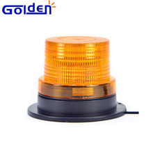 Emergency car roof magnetic mount amber 12v led lighting rotating warning beacon light