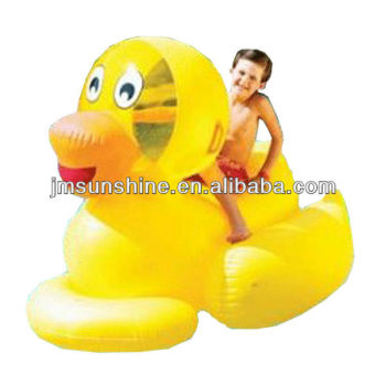 Hot sale PVC inflatable kids water duck rider