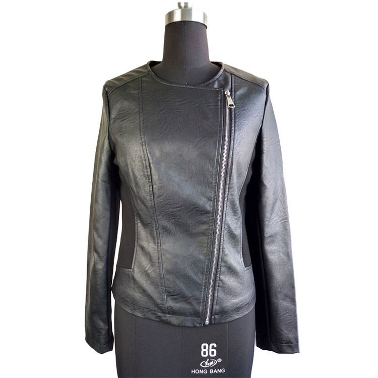 Manufacturer sale faux leather clothing womens leather suede jacket