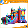 High quality 0.55mm PVC new design inflatable bouncer,inflatable castle with slide