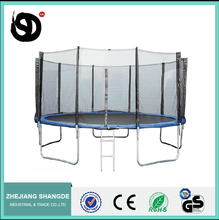 15ft Gymnastic Equipment Trampoline with Safety Enclosure