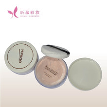 good quality cosmetics minerals finishing silky face glitter foundation loose powder with puff