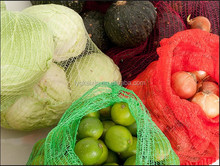 fruits and vegetables of pe raschel mesh bags