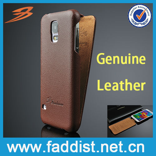 flip case for Samsung galaxy s5 leather case,genuine leather case for galaxy s5
