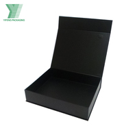 Yifeng Black Cardboard Gift Box With PP Handle, carrying box