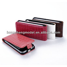 2013 Hot Sale Fashional Croco Slim Vertical Flip Leather Case Cover For iphone 4/4gs
